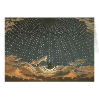 Vintage Celestial Astronomy, Queen of the Night Card