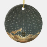 Vintage Celestial, Astronomy, Queen of the Night Christmas Ornaments