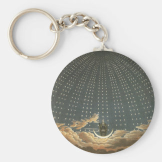 Vintage Celestial Astronomy, Queen of the Night Key Ring