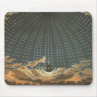 Vintage Celestial Astronomy, Queen of the Night Mouse Pad