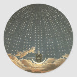 Vintage Celestial Astronomy, Queen of the Night Round Sticker