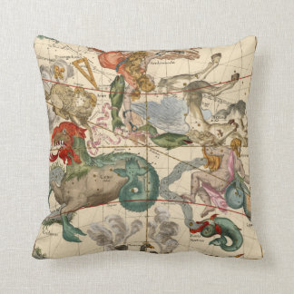 Vintage Celestial Map Cetus Aquarius Andromeda Cushion