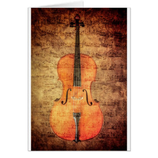 Vintage Cello Card