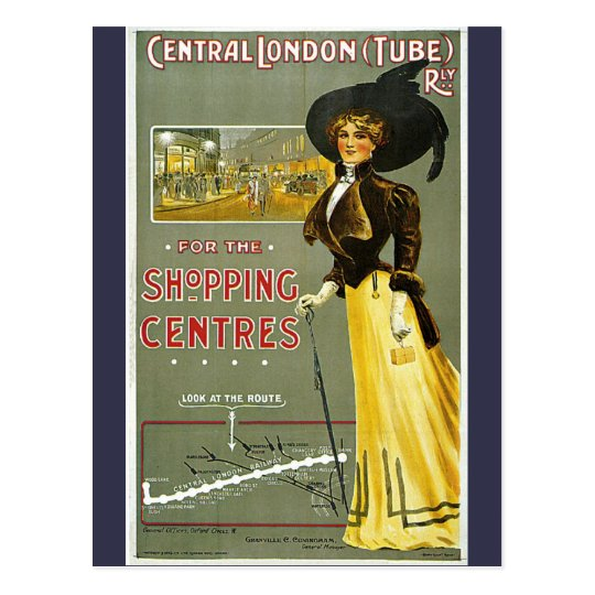 Vintage Central London Shopping Centres Travel Postcard