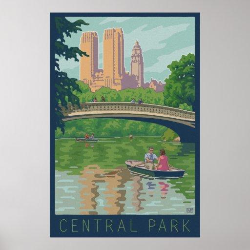 Vintage Central Park Travel Poster
