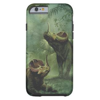 Vintage Centrosaurus Dinosaur in the Jungle Tough iPhone 6 Case