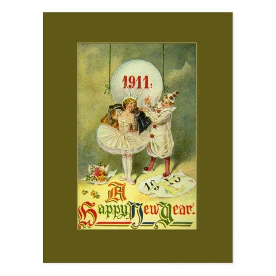 Vintage Century New Year Postcard