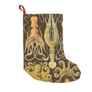 Vintage Cephalopods Squid Octopus Small Christmas Stocking