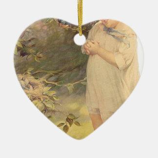 vintage ceramic heart decoration