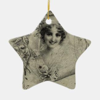Vintage Ceramic Star Decoration