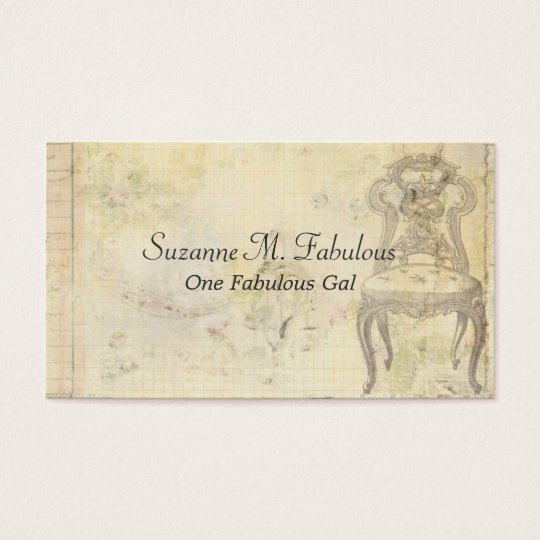 Vintage Chair Business Card