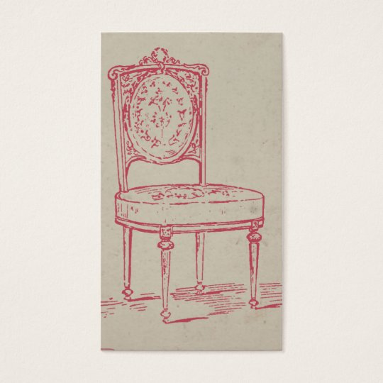 Vintage Chair PInk Business Card