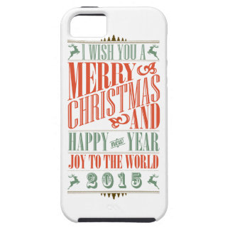Vintage Chalkboad Christmas New Year 2015 iPhone 5/5S Covers