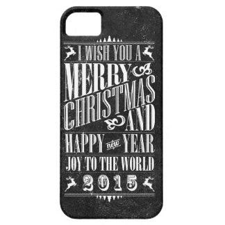 Vintage Chalkboad Christmas New Year 2015 iPhone 5/5S Case