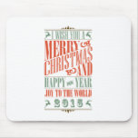 Vintage Chalkboad Christmas & New Year 2015 Mousepads