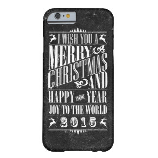 Vintage Chalkboad Christmas & NewYear Barely There iPhone 6 Case