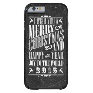 Vintage Chalkboad Christmas & NewYear Tough iPhone 6 Case