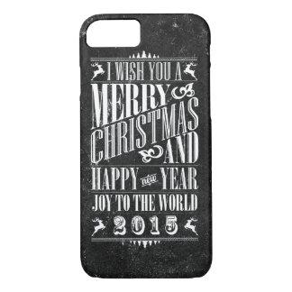 Vintage Chalkboad Christmas & NewYear iPhone 7 Case