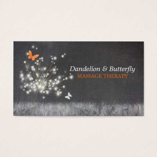 Vintage Chalkboard Art Trendy Business Cards