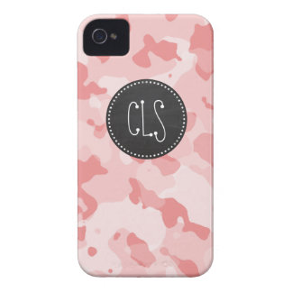 Vintage Chalkboard Baby Pink Camo; Camouflage iPhone 4 Covers