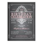 Vintage Chalkboard Birthday Invitation