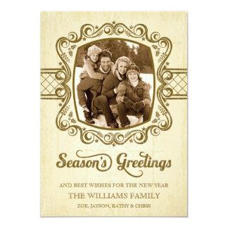 Vintage Chalkboard Christmas Holiday Photo Card 13 Cm X 18 Cm Invitation Card