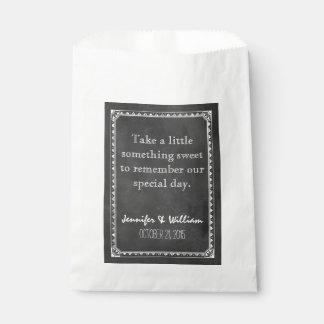 Vintage Chalkboard Custom Wedding Favor Bag