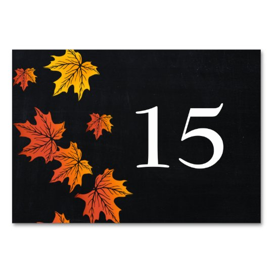 Vintage Chalkboard fall wedding table numbers Table Cards