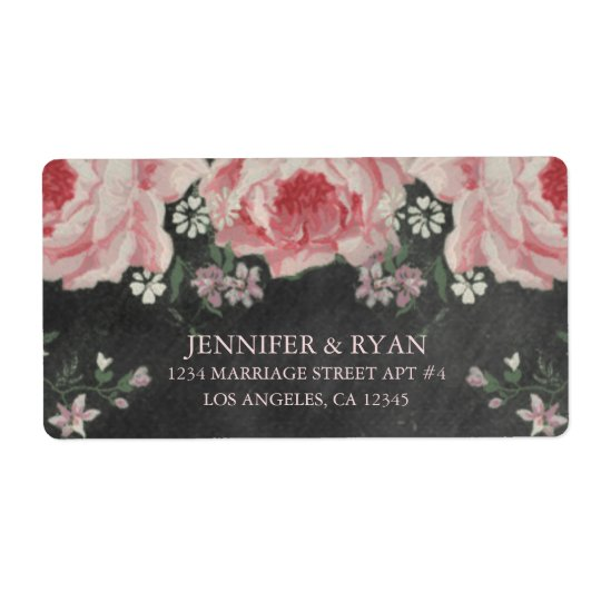 VINTAGE CHALKBOARD FLOWER RETURN ADDRESS LABELS