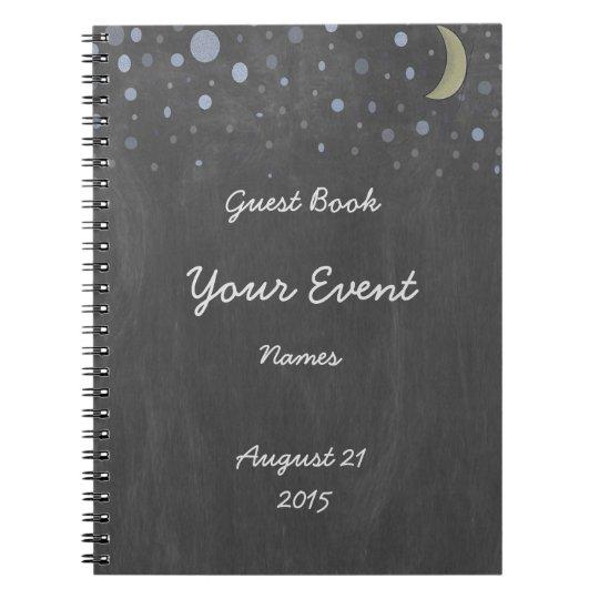 Vintage Chalkboard Guest Book Spiral Notebooks