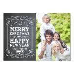 Vintage Chalkboard Holiday Photo Card 13 Cm X 18 Cm Invitation Card