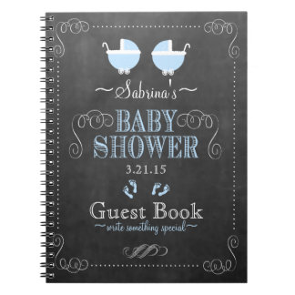 Vintage Chalkboard Look- Baby Shower Guest Book- Notebooks