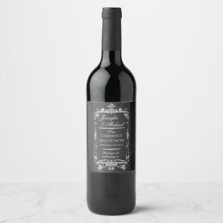 Vintage Chalkboard Look Wine Label