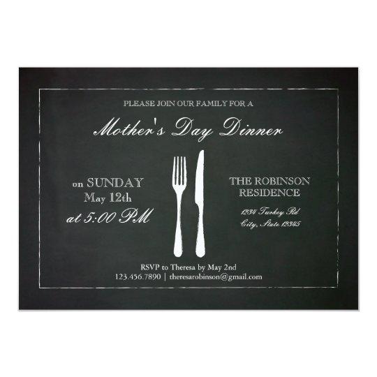 Vintage Chalkboard Mother's Day Invitation