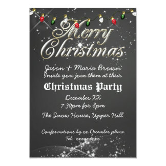 Vintage Chalkboard Multi Christmas Party Card