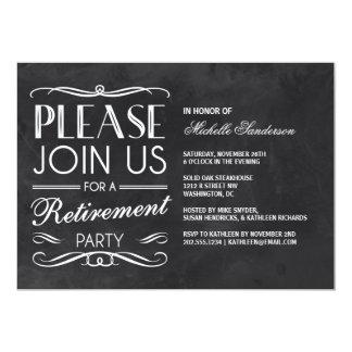 Vintage Chalkboard Retirement Party 13 Cm X 18 Cm Invitation Card
