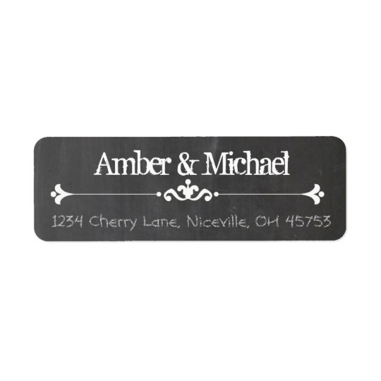Vintage Chalkboard Return Address Label