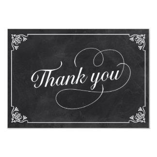 Vintage Chalkboard Thank You 9 Cm X 13 Cm Invitation Card