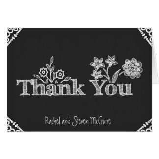 Vintage Chalkboard Thank You Card