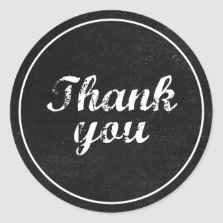 Vintage Chalkboard Thank You Sticker