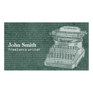 Vintage Chalkboard & Typewriter Freelance Writer Pack Of Standard Business Cards