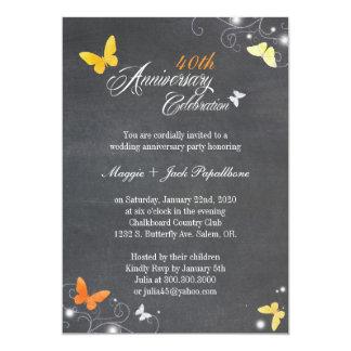 Vintage Chalkboard Wedding Anniversary Card
