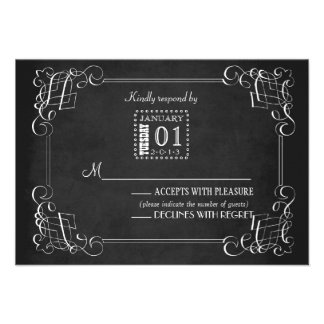 Vintage Chalkboard Wedding Response Card