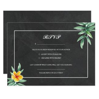 Vintage Chalkboard Wedding RSVP Card