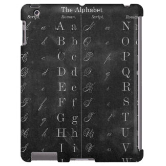 Vintage Chalkboard with Alphabet