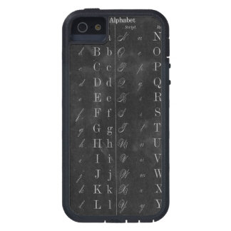 Vintage Chalkboard with Alphabet Tough Xtreme iPhone 5 Case