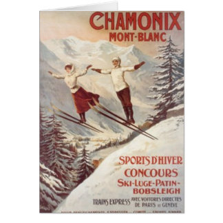Vintage Chamonix Mont-Blanc France - Greeting Cards