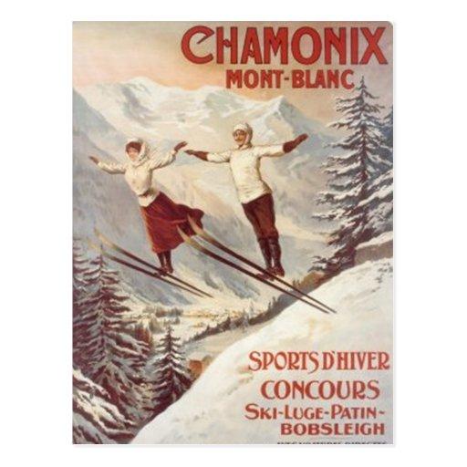 Vintage Chamonix, Mont-Blanc, France - Postcards