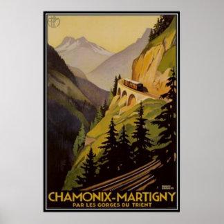 Vintage Chamonix Mont-Blanc France - Print