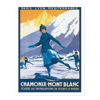 Vintage Chamonix Mont Blanc Postcard